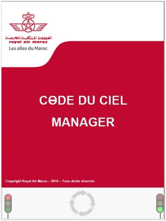 Code du Ciel Royal Air Maroc